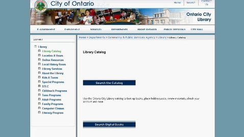 Thumbnail for entry Using the Ontario City Library Catalog
