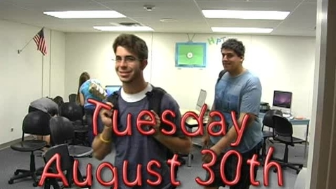 Thumbnail for entry Tuesday, August 30, 2011
