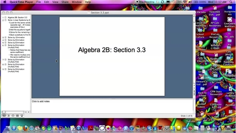 Thumbnail for entry Algebra 2B Section 3.3