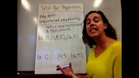Thumbnail for entry 7th - Sect 6-3B Test for Proportionality