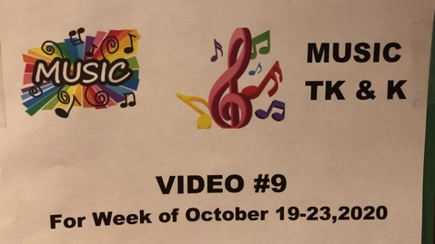 Thumbnail for entry Music TK & K Lesson #9