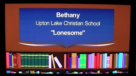 Thumbnail for entry Lonesome The 2013 7GP 7th Grade Poetry Contest Winner