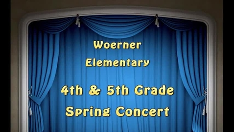 Thumbnail for entry Woerner Spring Concert May 13, 2015