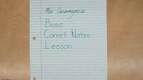 Thumbnail for entry Basic Cornell Notes