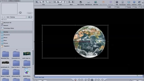 Thumbnail for entry Creating a Globe in Motion on Final Cut Pro Part 2 of 2