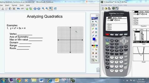 Thumbnail for entry Analyzing Quadratics