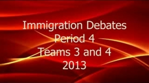 Thumbnail for entry ID2 P4 Pt 1 Immigration Debate P4 Prop-Opp 1
