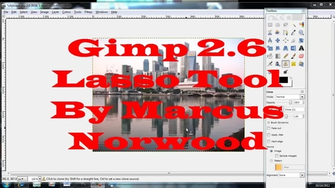 Thumbnail for entry Gimp Lasso Tool