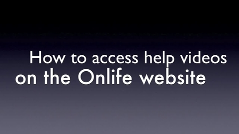 Thumbnail for entry How to access Onlfe demonstration videos...