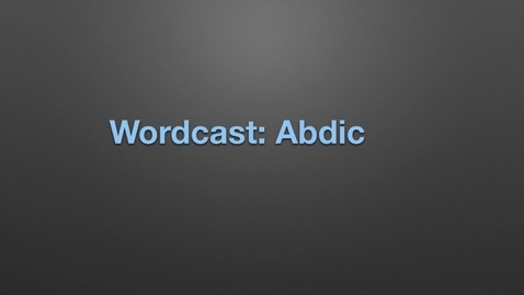 """Thumbnail for entry WordCast 2016: """"Abdicate"""""""