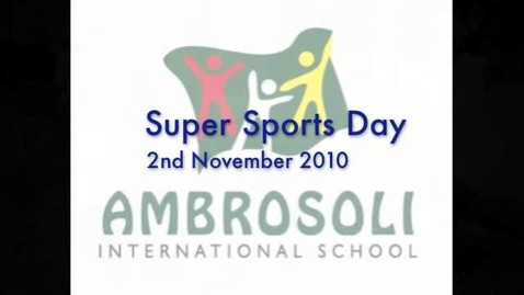 Thumbnail for entry Ambrosoli International School Super Sports Day