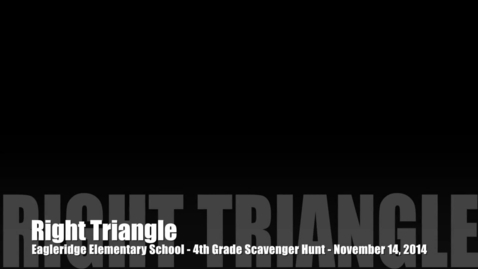Thumbnail for entry Eagleridge 4th Graders show us a right triangle