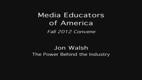 Thumbnail for entry 2012 MEOA Fall Conference: Non-Linear Editing