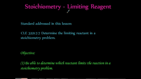 Thumbnail for entry Limiting Reactant