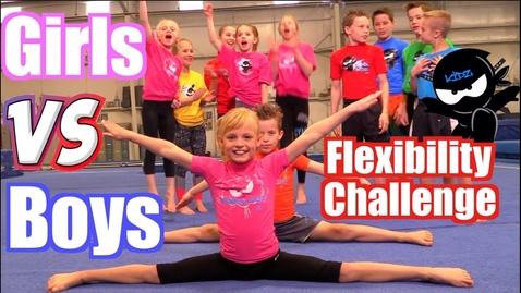 Thumbnail for entry Girls vs Boys Gymnastics   Flexibility Challenge