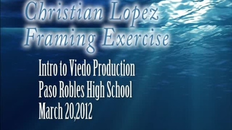 Thumbnail for entry Christian Lopez Framing