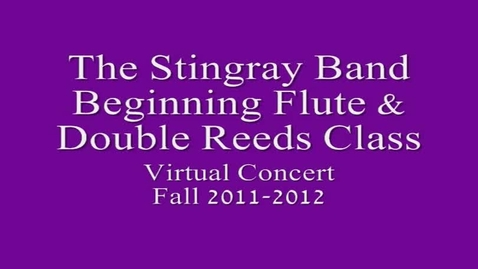 Thumbnail for entry 7th period Beg. Flute & Double Reeds Class