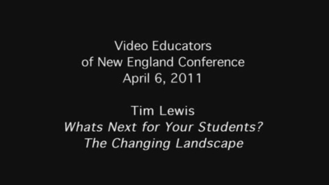 Thumbnail for entry VENE Conference: Tim Lewis