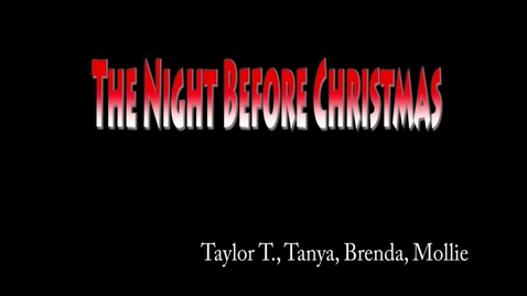 Thumbnail for entry The Night Before Christmas - WSCN Short Film 2015/2016