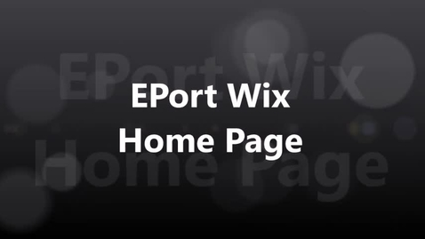 Thumbnail for entry EPort Wix Contact Info 2017