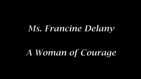 Thumbnail for entry Francine Delany Interview Movie