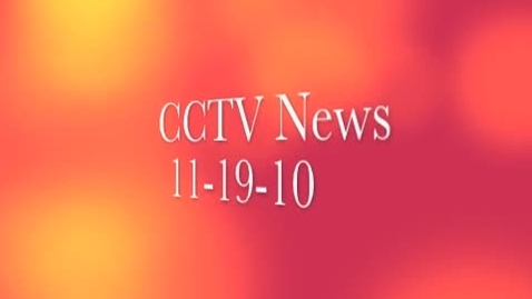 Thumbnail for entry 11-19-10 News