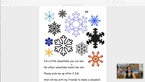 Thumbnail for entry I'm a Little Snowflake