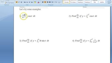 Thumbnail for entry C.4.4 - Fundamental Theorem - Part 2