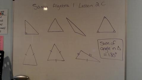 Thumbnail for entry Saxon Algebra 1 Lesson 2C