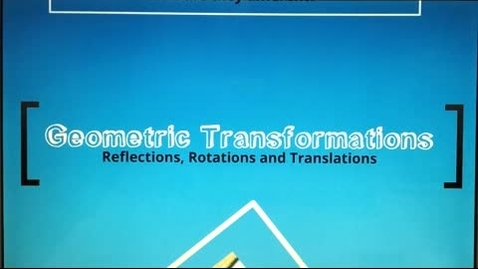 Thumbnail for entry Geometric Transformations