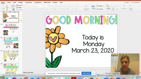 Thumbnail for entry Monday March 23, 2020 Morning Meeting