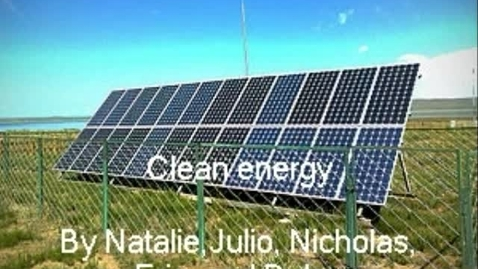 Thumbnail for entry Clean Energy