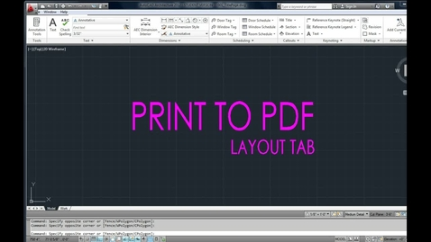 Thumbnail for entry How to PRINT to PDF in CAD