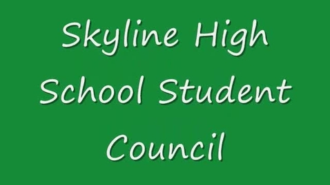 Thumbnail for entry Skyline School Council