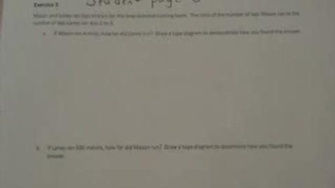 Thumbnail for entry 6th Grade Math Module 1 Lesson 3
