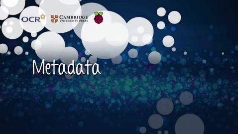Thumbnail for entry Metadata - Part C