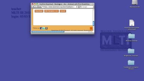 Thumbnail for entry Opening Bookshare Files in Safari