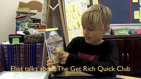 Thumbnail for entry Elias Talks about The Get Rich Quick Club