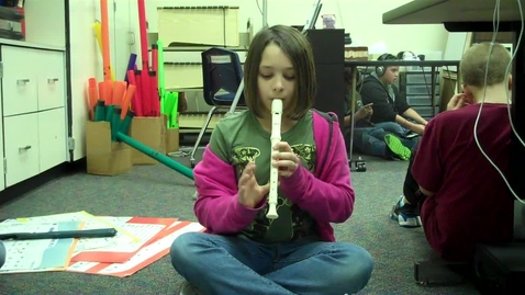 """Thumbnail for entry 5B Purple 4 recorder solo """"High Dive"""" 2012"""