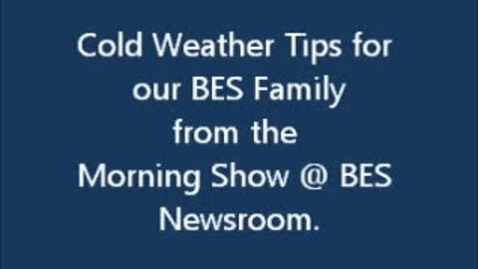 Thumbnail for entry Cold Weather Safety Tips from the Sea Turtles W-BES News Team
