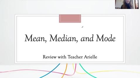 Thumbnail for entry Math Lesson 1 April 27th