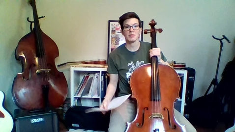 Thumbnail for entry Week 3: 4th/5th Grade Cello/Bass Lesson (Pages 26/27 Essential Elements)