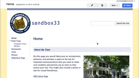 Thumbnail for entry Google Sites - Sharing with Students