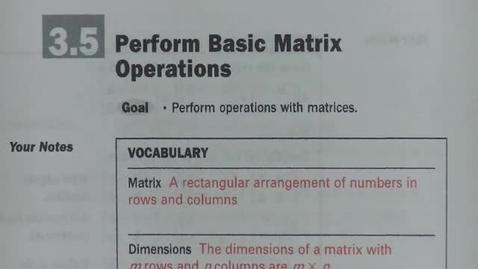 Thumbnail for entry Alg 2 Sec 3_5 Basic Matrix Operations