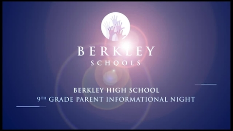 Thumbnail for entry 2013 BHS 9th Grade Parent Informational Night