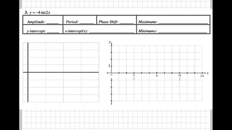 Thumbnail for entry Graphing Sine and Cosine Packet 3