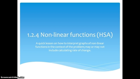 Thumbnail for entry 1.2.4 Non Linear Quick Lesson