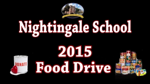 Thumbnail for entry Food Drive 2015