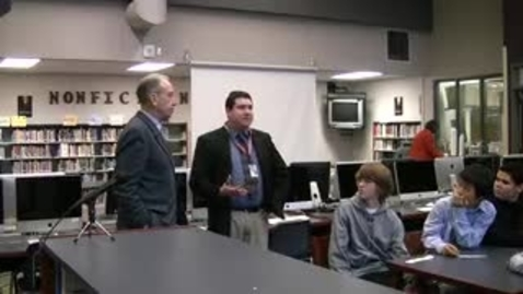 Thumbnail for entry Sen. Grassley visits DC-G Middle School