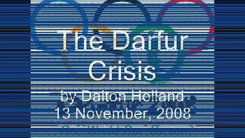 Thumbnail for entry Darfur Crisis